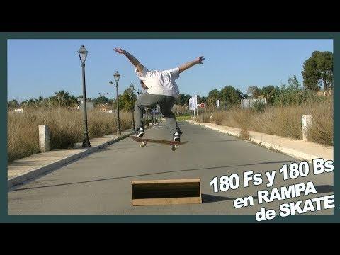 Ollie 180 Fs Y Bs en rampa pequeña de salto