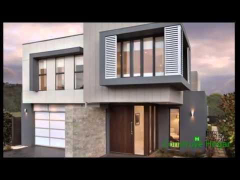 planos de casas de dos pisos con fachadas modernas youtube ForPlanos Para Casas De Dos Pisos Modernas