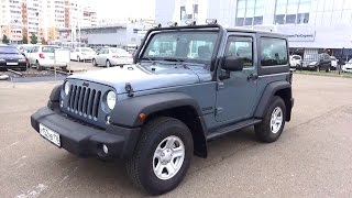 2014 Jeep Wrangler Sport. Start Up, Engine, and In Depth Tour.