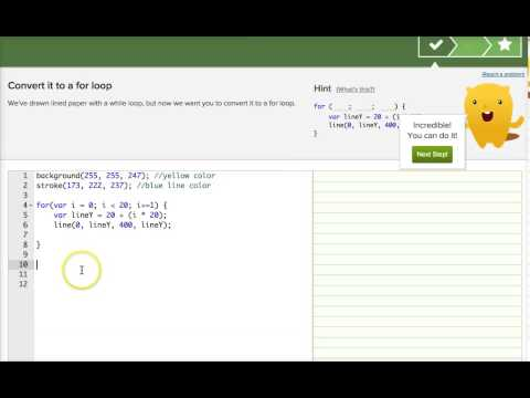 Khan Academy Lined Paper Challenge