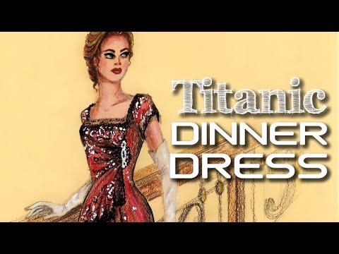 Dinner Dress Titanic Fashion Illustration Fashion