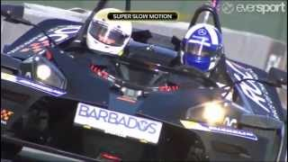 Race of Champion 2014 Final Race - David Coulthard vs Pascal Wehrlein - Coulthard Won RoC