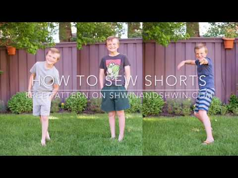 How to sew basic shorts WITH FREE Pattern