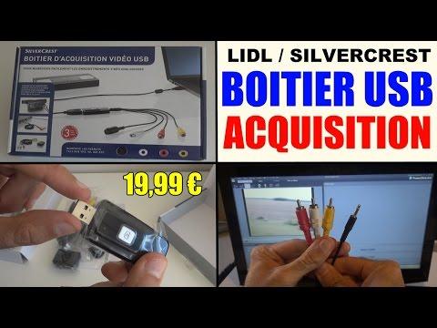 boitier acquisition video lidl silvercrest usb 2.0 svg 2.0 a2