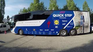 Inside the Quick-Step Floors Team Bus at the Tour de France