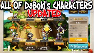 all-of-daboki39s-maplestory-characters-update