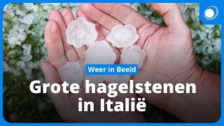 Noodweer Gardameer: Grote hagelstenen tijdens hevige onweersbui