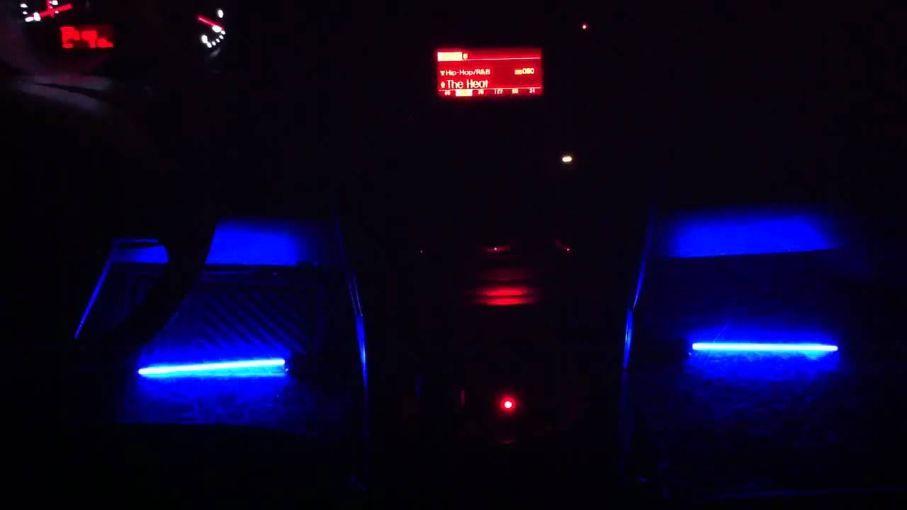 Car Interior Sound Activated Neon Lights Youtube
