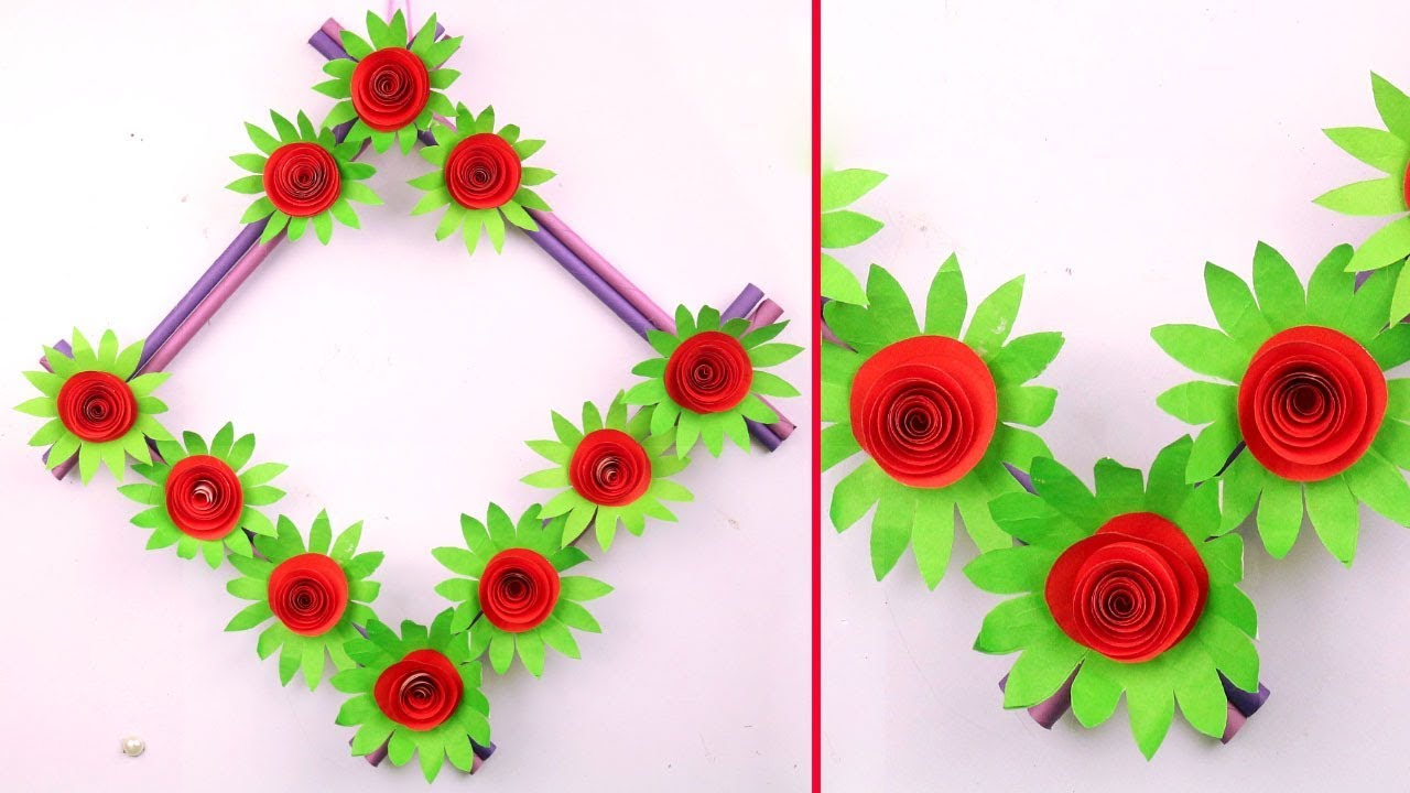 Easy And Simple Paper Crafts For Home Decoration Paper Craft Wall Hanging Paper Craft Flowers