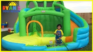 GIANT INFLATABLE SLIDE For Kids Little Tikes 2 In 1 Wet 'n Dry Bounce Children Play Center