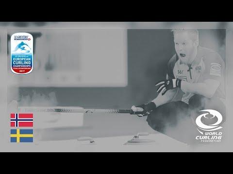 Norway v Sweden - Men's Round-robin - Le Gruyère AOP European Curling Championships 2017