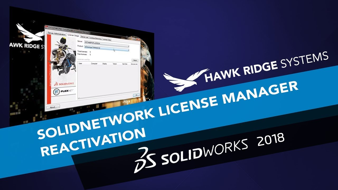 SOLIDWORKS: SolidNetwork License Manager Reactivation