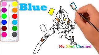 Ultraman Mebius Karuta Drawing - Ultraman Coloring Pages