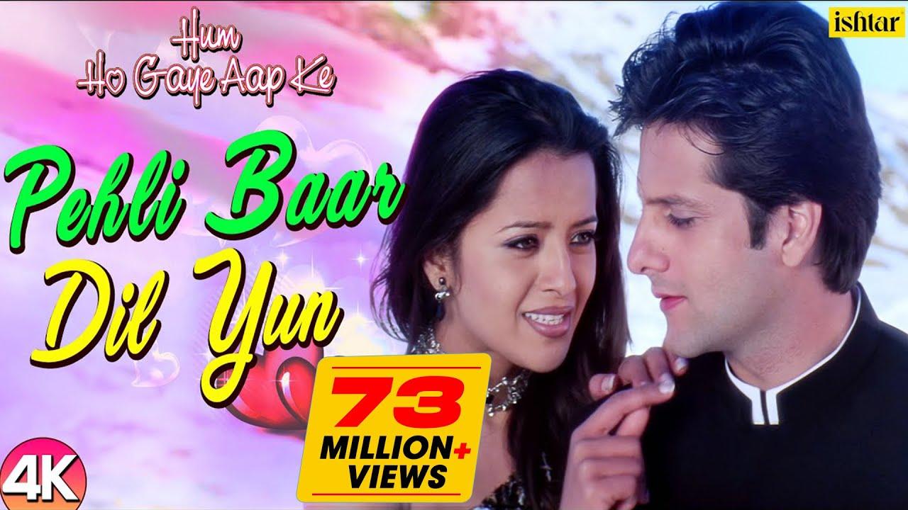 Pehli Baar Dil Yun 4k Video Song Hum Ho Gaye Aapke Fardeen Khan Kumar Sanu Alka Yagnik Youtube