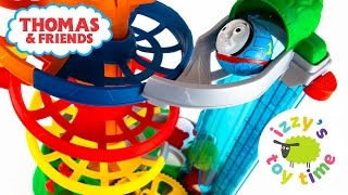 thomas and friends rail rollers spiral station   toy trains for kids and family