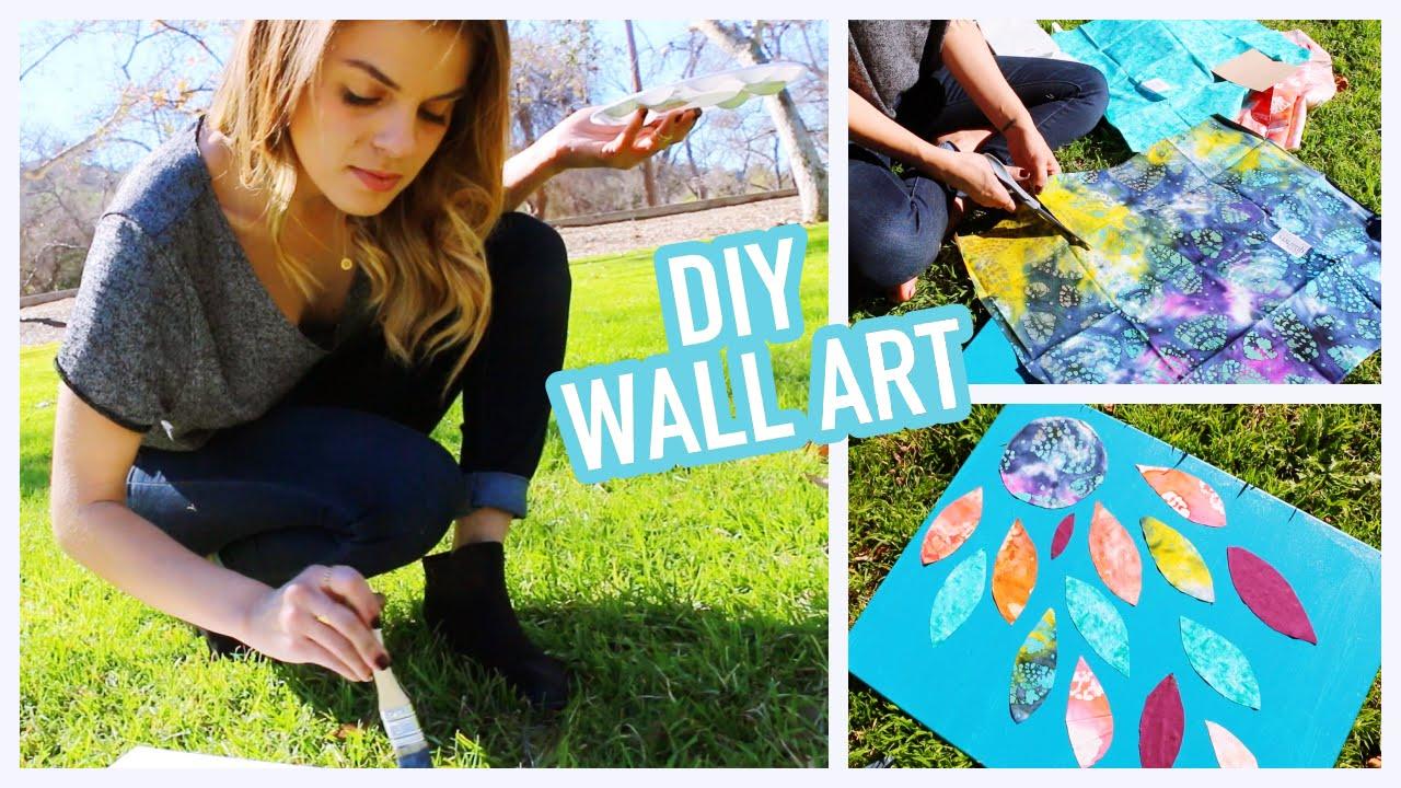 DIY: Easy & Creative Wall Art Ideas - YouTube on Creative Wall Decor Ideas  id=89260