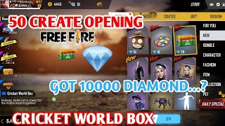 CRICKET WORDCUP BOX 50 CREATE OPENING GOT 10000 DIAMONDS IN ONLY ONE BOX