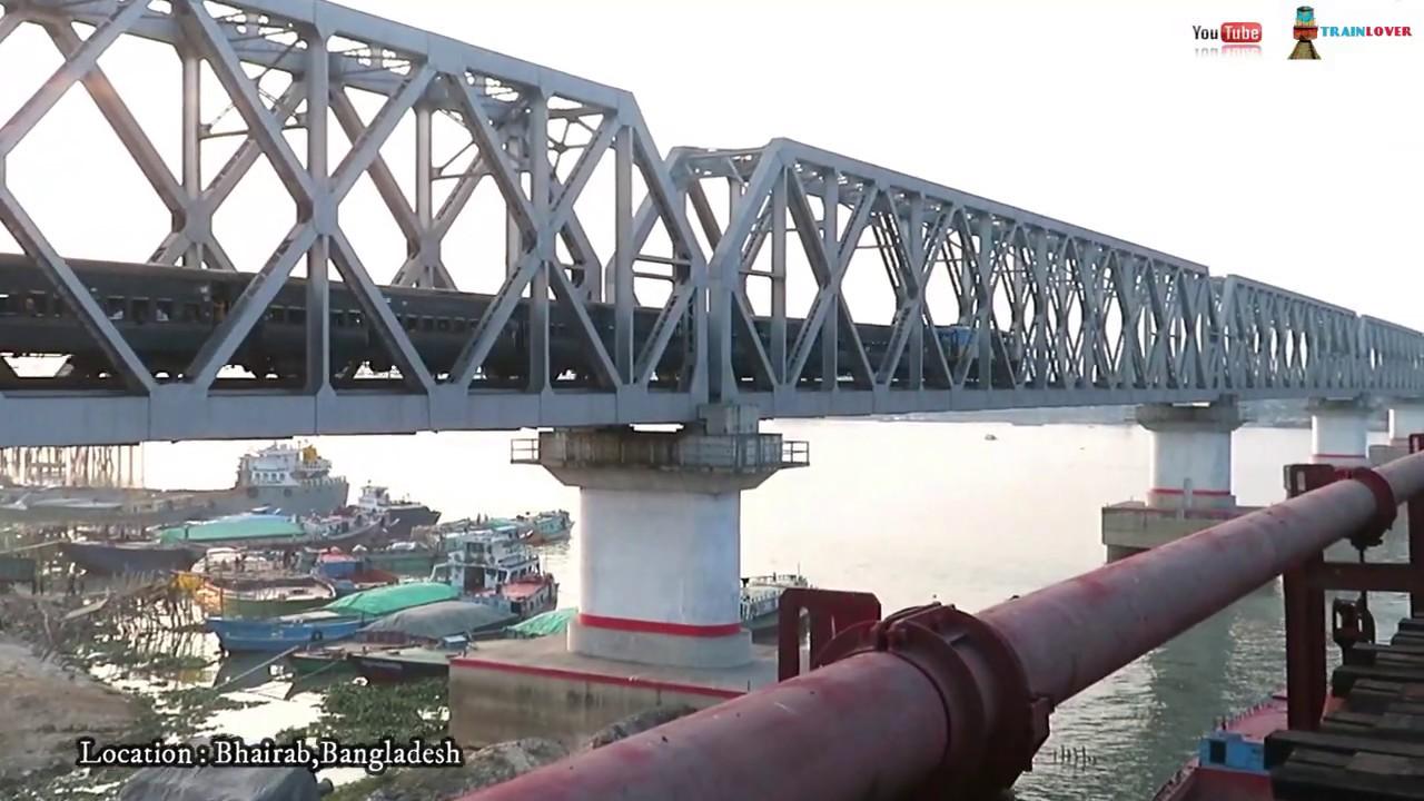 ভৈরব রেলব্রীজ || Kornofuli Express In Bhairab Railway bridge ||
