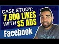 How to get 7,600 Facebook Page Likes with $5 Facebook Ads