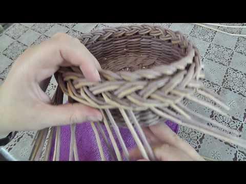 Плетение из газет загибки косичка видео елена тищенко