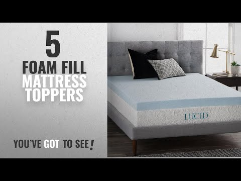 top-10-foam-fill-mattress-toppers-[2018]:-lucid-4-inch-gel-memory-foam-mattress-topper---ventilated