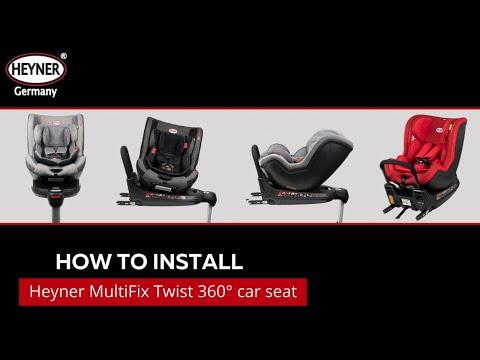 HEYNER® 360 Degree Swivel Rotating ISOFIX Car Seat REAR FORWARD FACING Multifix Twist