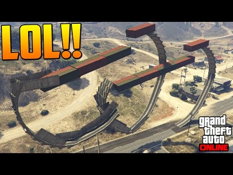 LOL! ACROBACIA IMPOSIBLE! COCHE POCHO!! - Gameplay GTA 5 Online Funny Moments (Carrera GTA V PS4)