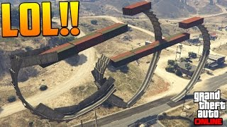 lol acrobacia imposible coche pocho gameplay gta 5 online funny moments carrera gta v ps4