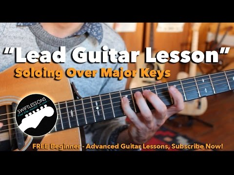 Playing lead guitar over chords
