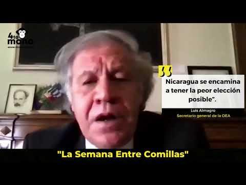 """Luis Almagro: """"Nicaragua se encamina a tener la peor elección posible""""."""
