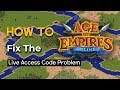 How To - Fix the Age of Empires Online Live Access Code Problem