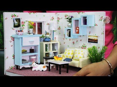 DIY Miniature Doll House Living Room Designs