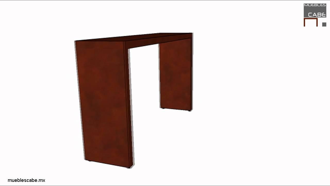 Mesa de pasillo 120 x 30 cm. - YouTube