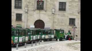 Toy train for tourists in Ávila, Spain