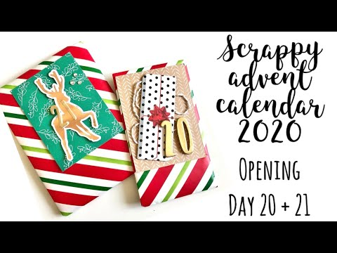 Scrappy Advent Calendar   Opening day 20 & 21   Katie