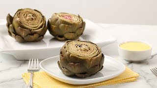 Easy Steamed Artichokes With Hollandaise Sauce - Martha Stewart