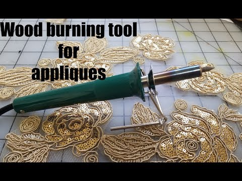 wood burning tool for appliques unboxing and tutorial