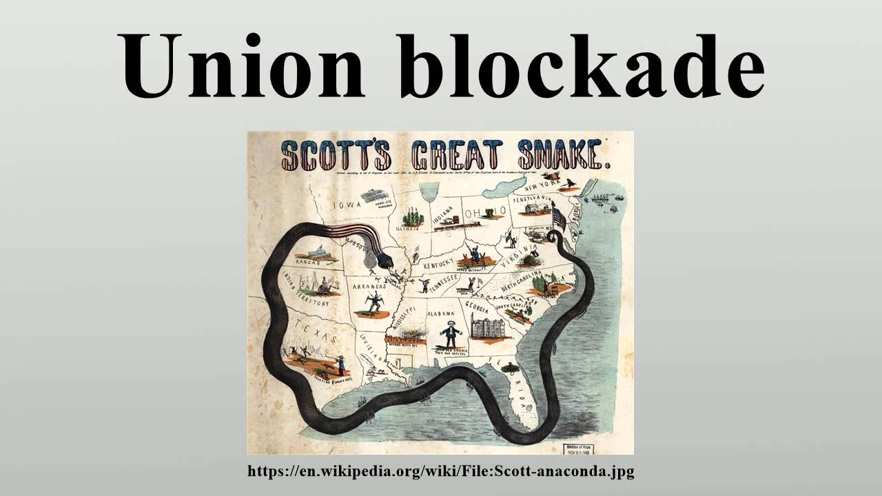 Union blockade - YouTube