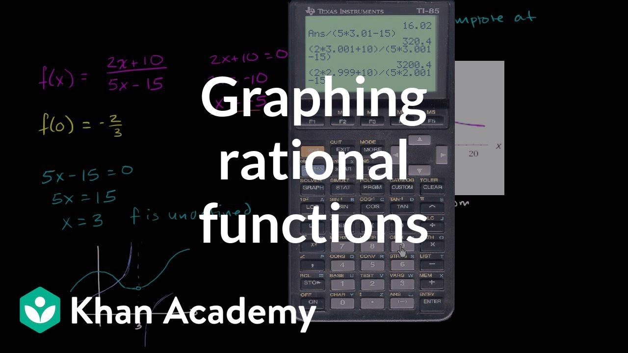 Graphing rational functions 1 (video) | Khan Academy