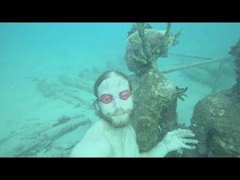 gradna day 2 sailing underwater sculpture park by Jason Decaires