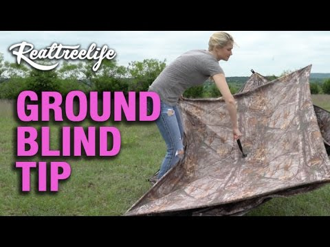 How To Pop Up A Ground Blind