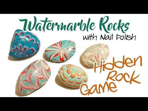 Painted Rocks - Watermarble | Hidden Rock Game!