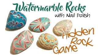 Painted Rocks - Watermarble | Hidden Rock Game!