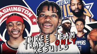 3 TEAM TRADE ONLY REBUILDING CHALLENGE IN NBA 2K20