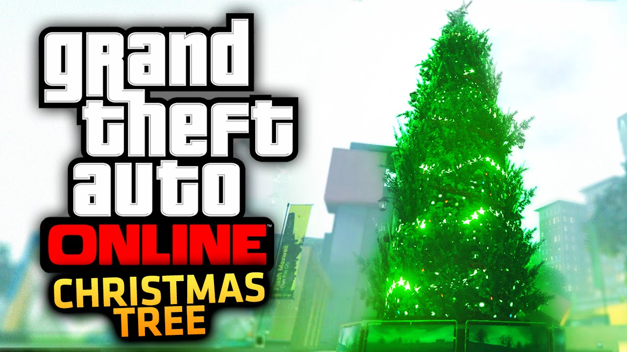 GTA 5 Online GIANT Christmas Tree Location Chirstmas DLC Update  - Location Of Christmas Trees