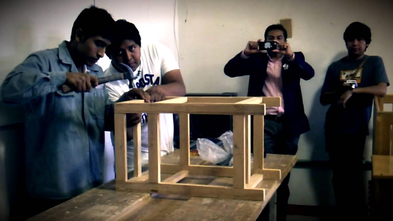 CECATI 174 Huaj.-como construir Buro de Madera - YouTube