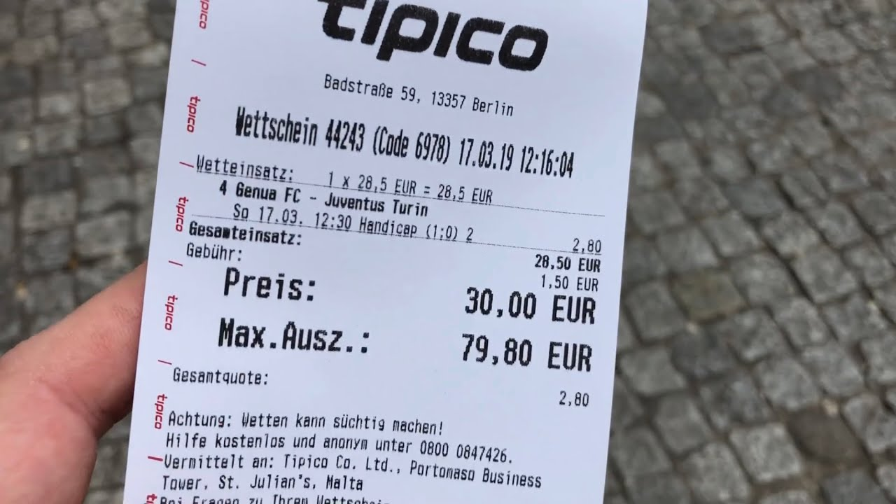 Cashout Tipico