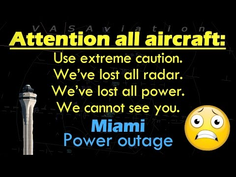 REAL ATC FULL LOSS OF POWER at Miami International #KMIA