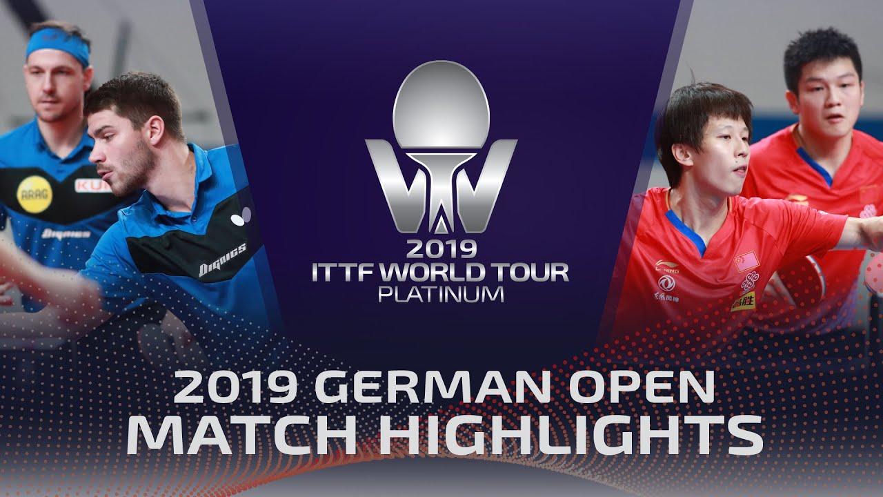 Download Timo Boll/Patrick Franziska vs Fan Zhendong/Lin Gaoyuan | 2019 ITTF German Open Highlights (1/4)