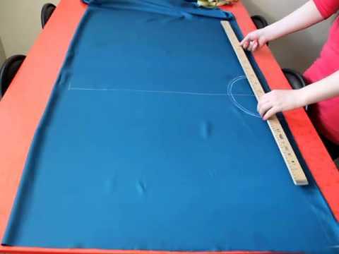 Урок-4: конструирование юбки солнце на ткани (практика)
